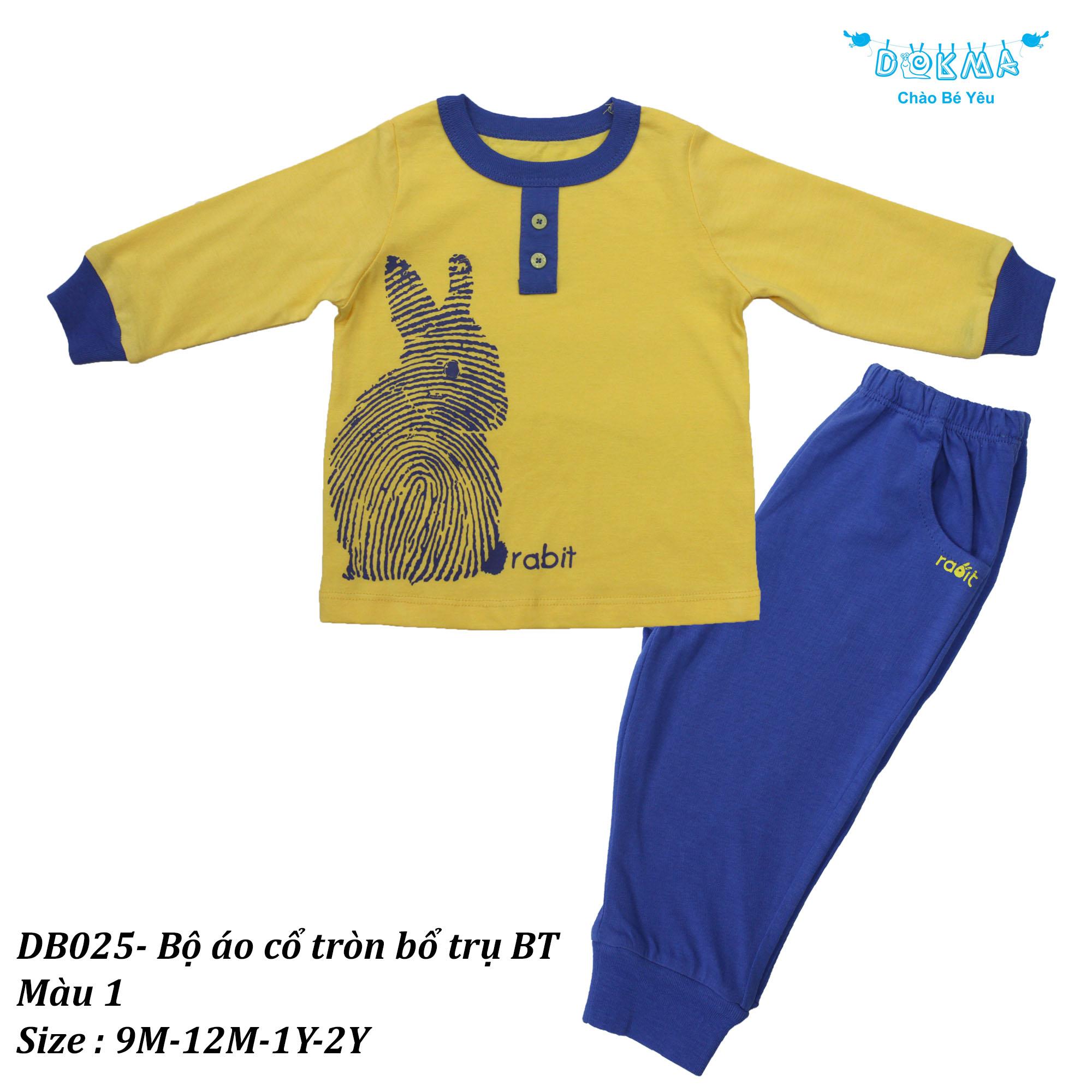 Bộ áo Cổ Tròn Bổ Trụ BT – DB025